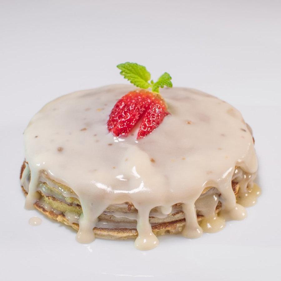 Pancakes with Truffles in white choco cream