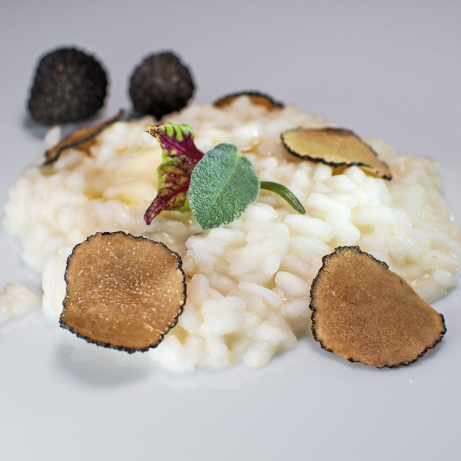 Risotto with Black Lyophilized Truffles